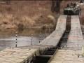 Военные АТО построили мост через Северский Донец
