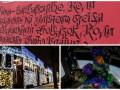 День в фото: Новогодний трамвай в Киеве, елка в космосе и стихи во Львове