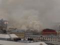 У здания российского Минобороны из-за пожара рухнула крыша