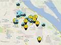 В сети опубликована карта митингов и милицейских кордонов
