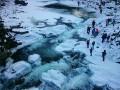 В Яремче замерз крупнейший водопад Украины