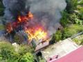 В Киеве сгорел двухэтажный дом после мощного взрыва