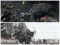 Киев сейчас и во время Евромайдана. Подборка фото с одного ракурса