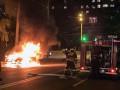 Показано видео, как в Днепре горели легковушки