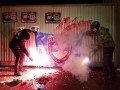 В Киеве бывшую базу Беркута забросали яйцами и куриными головами
