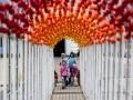 Пасха 2016: на Михайловской площади установили Тоннель желаний