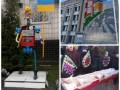 День в фото: свинья под Радой, железный человек под Киевгазом и новый мурал в столице