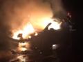 Ночью во Львове сгорела дорогая спортивная иномарка