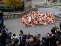 Борцы за права животных обнажились в центре Барселоны