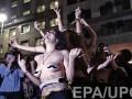 Бразильские женщины разделись во время протеста против насилия