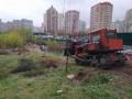 В Киеве бульдозером снесли шалаши бездомных