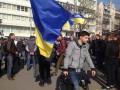 Возле Конституционного суда митингуют в поддержку люстрации