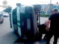 В Полтаве инкассаторы влетели в авто полицейских и перевернулись