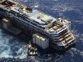 Лайнер Costa Concordia доставили к месту утилизации