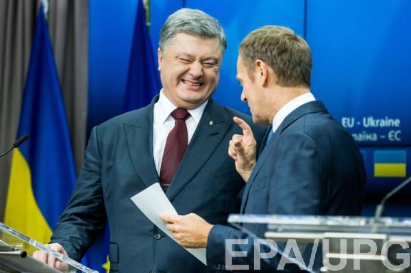 Туск обсудил с Порошенко перспективы безвиза