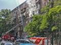 В центре Киева горит многоэтажка, погибла женщина