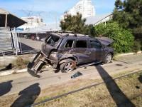 В Одессе трамвай столкнулся с внедорожником: пострадала женщина