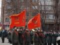 В Кривом Роге прошел парад Нацгвардии с советскими флагами