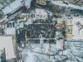 Пожар в центре Киева: фото горевшего дома
