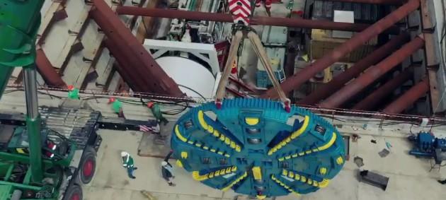 Кличко показал, как строят метро на Виноградарь