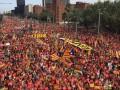 В Барселоне прошел масштабный митинг за независимость
