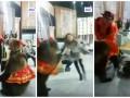 Медведица набросилась на девушку на съемках телепередачи