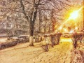 Украину засыпало снегом