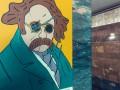 Националист изрезал портреты Шевченко в метро Киева