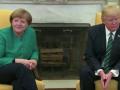 Трамп отказался пожать руку Ангеле Меркель