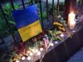Киев соболезнует Москве: под посольство России принесли цветы (фото)