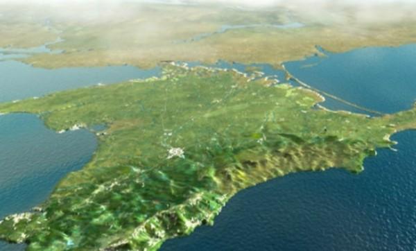 ВМелитополе показали карту Украины без Крыма