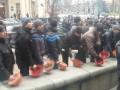 Центр Львова заблокировали бастующие шахтеры