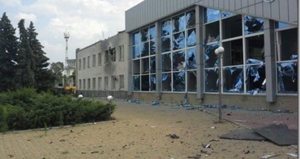 Аэропорт Луганска после боев