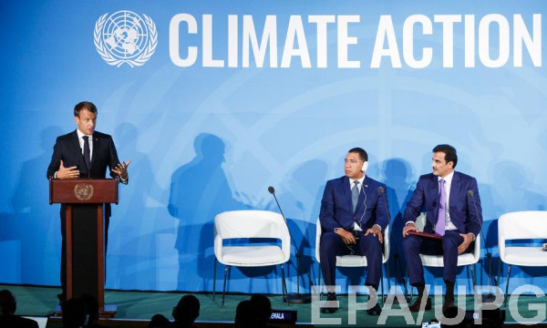 Макрон на саммите ООН