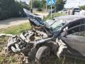 В Херсонский области иномарка протаранила остановку с людьми