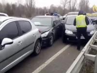 В Киеве столкнулись сразу 5 авто и образовали огромный затор