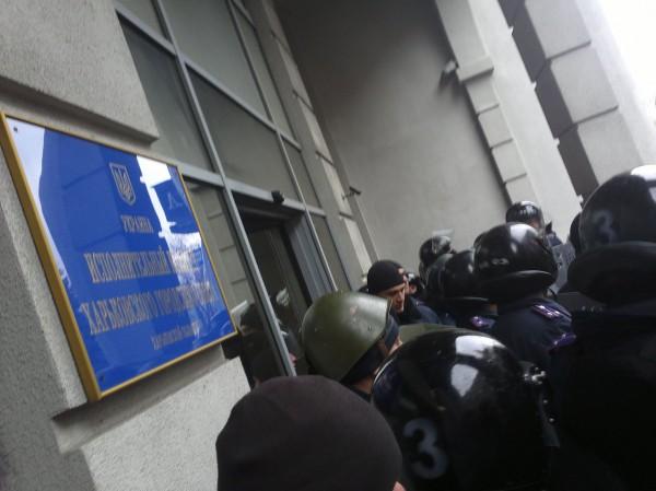 В Харькове начался штурм горсовета