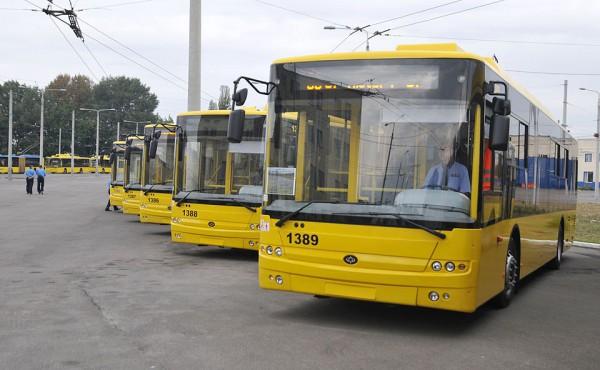 10 единиц троллейбусов