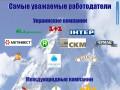 Названы самые уважаемые работодатели Украины