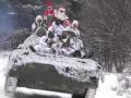 Санта на БМП: Военные поздравили украинцев с Новым годом