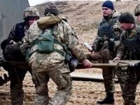 Вертолет доставил в Харьков бойцов, раненных при эскалации в зоне ООС