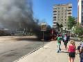 Во Львове полностью сгорела маршрутка