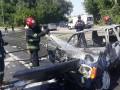 В тройной аварии с пожаром на Ровенщине пострадало шесть человек
