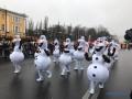 В Киеве впервые проходит новогодний парад