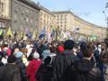 В Киеве протестующие возле КГГА перекрыли Крещатик