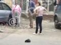 В Одессе засняли самосуд над вором