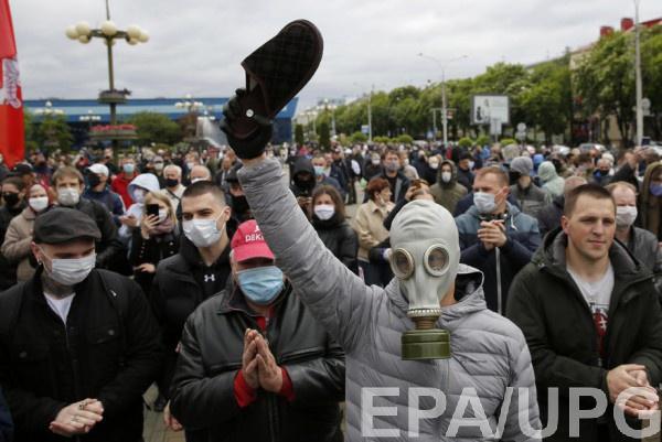 Тапок символ протеста в Беларуси