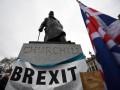 В центре Лондона сожгли флаг Евросоюза