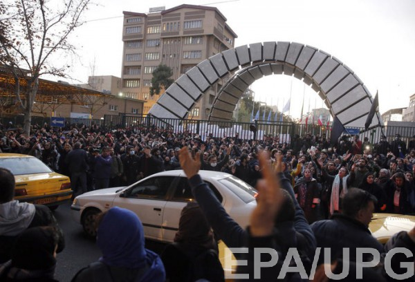 Антиправительственные митинги в Иране