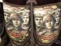 В России к празднику торгуют тапками с лицами солдат Победы